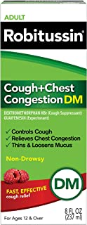 Robitussin Adult Cough + Chest Congestion DM (8 fl. oz. Bottle), Non-Drowsy, Cough Suppressant & Expectorant