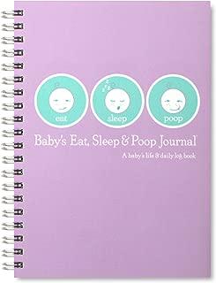 Baby's Eat, Sleep and Poop Journal, Log Book Lavender