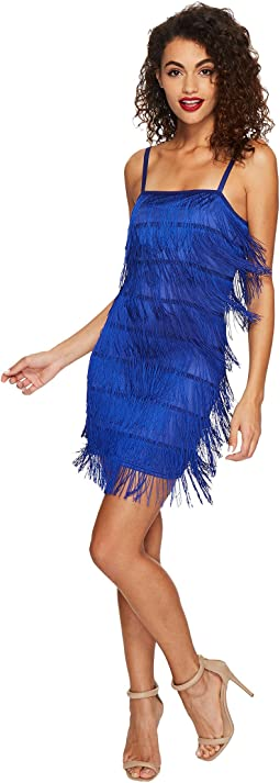 Unique Vintage - Speakeasy Tiered Fringe Flapper Dress