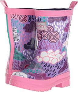 Hatley Kids - Patterned Raincloud Rain Boots (Toddler/Little Kid)