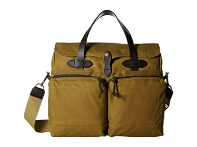 Filson 24 Hour Tin Briefcase (Dark Tan) Briefcase Bags