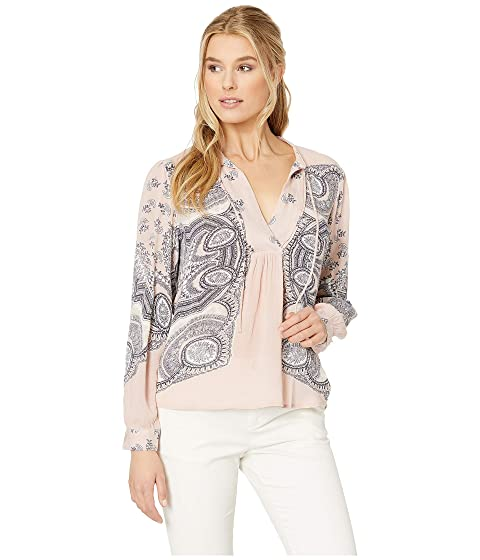 11900031d075 Lucky Brand Scarf Paisley Peasant Top at Zappos.com