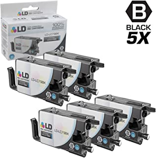 LD Compatible Ink Cartridge Replacement for Brother LC79BK Extra High Yield (Black, 5-Pack)