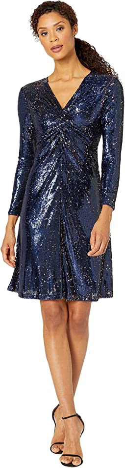 Navy Rose Sequin