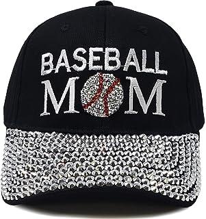 H-210-BM06 Sports Mom Baseball Cap - Baseball Mom (Black)