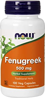 Now Supplements, Fenugreek 500 mg, Herbal Supplement, 100 Capsules