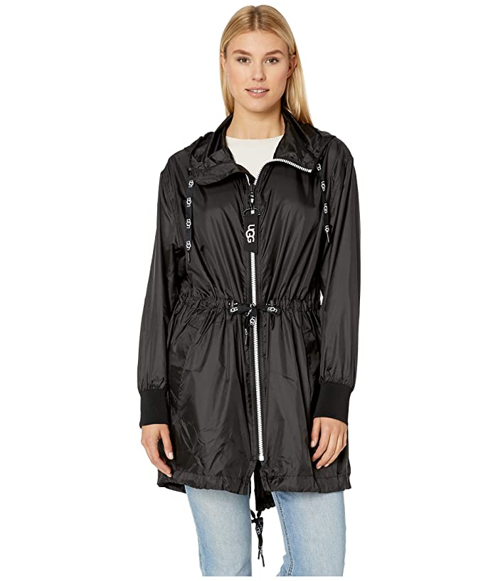UGG  Brittany Hooded Anorak (Black) Womens Clothing