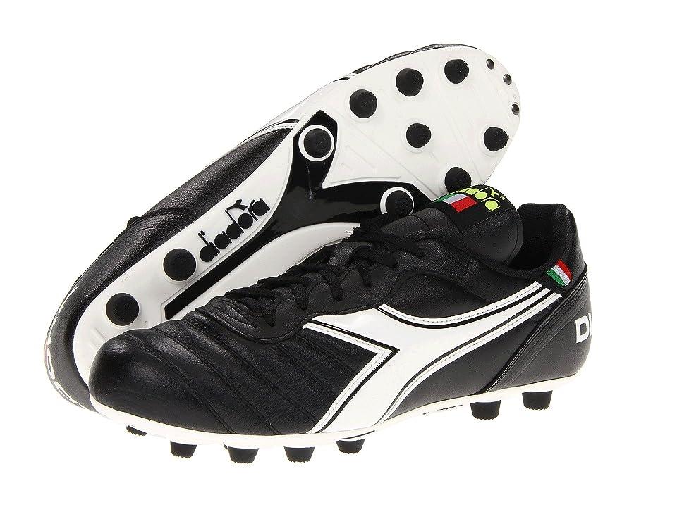 Diadora Brasil Classic (Black/White) Men's Soccer Shoes