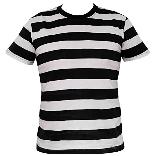 Rock Star Academy Black and White Striped T-Shirt d6bf08706