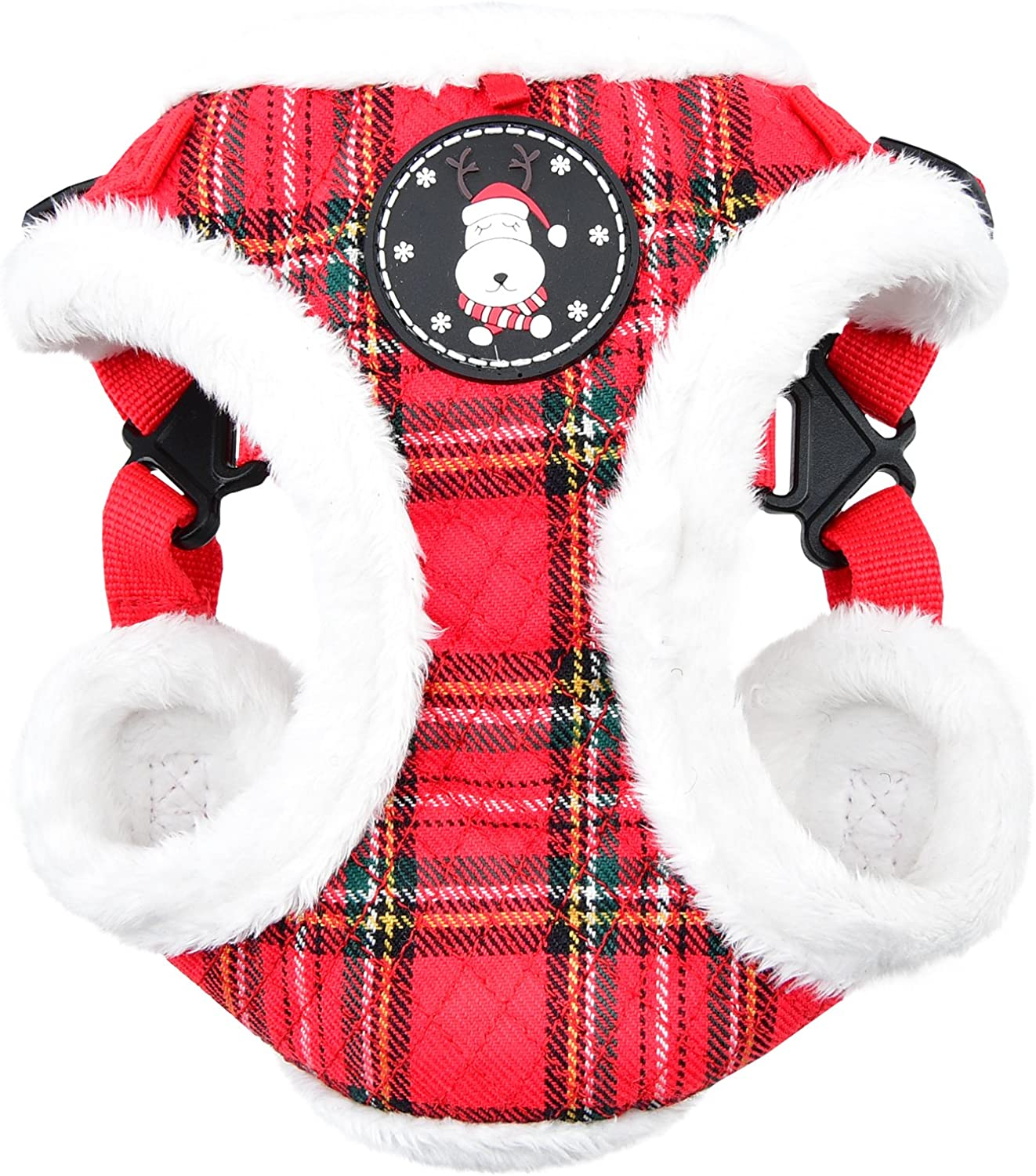 Puppia Blitzen Harness C, Medium, Checkered Red