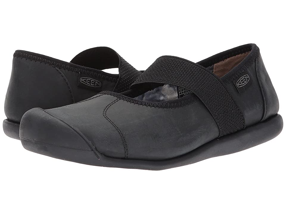 Keen Sienna MJ Leather (Monochrome Black) Women