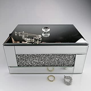 BANQLE Crystal Jewelry Box Jewelry Organizer,Handmake High-end Luxury Jewelry Storage,Home Accessory Perfect Container for...