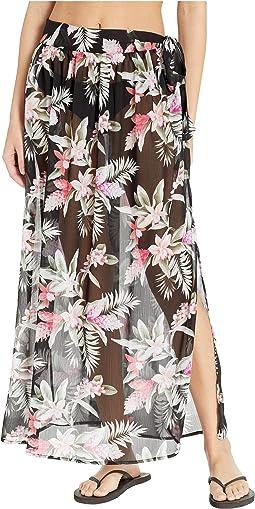 Gingerflower Tie Sarong Skirt