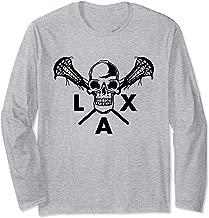 Skull & Crossbones Lacrosse Sticks Shirt American Lax Long Sleeve T-Shirt