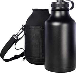 Ivation 1890ml Insulated Water Bottle & Beer Growler Carrying Pouch Included Choose Red, Silver, Or Black