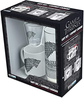 ABYstyle - Juego de Tronos - Caja de regalo vaso 29cl + Shooter + Mini taza Stark