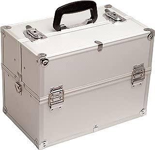 Hiker Giustinia Makeup Case Professional Nail Travel Organizer Box, Silver Dot, 8 Pound