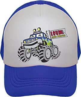 JP DOoDLES Monster Truck Hat Kids Trucker Hat. Baseball Mesh Back Cap fits Baby, Toddler and Youth
