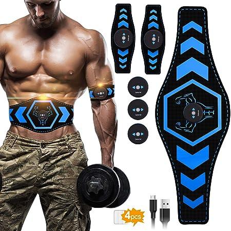 MATEHOM EMS Muskelstimulator bauchtrainer ABS Trainingsger/ät Elektrostimulation Elektrisch Bauchmuskeltrainer Fitnessg/ürtel f/ür Damen Herren
