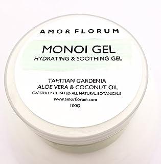 GEL DE MONOI con ALOE VERA Y GARDENIA TAHITIANA - 100 g - por AMOR FLORUM - Un gel natural que deja su piel perfumada e hi...