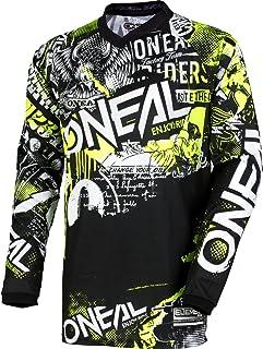 O`Neal 0006-803 Unisex-Adult Element Attack Jersey (Black/Hi-Viz, Youth Medium)