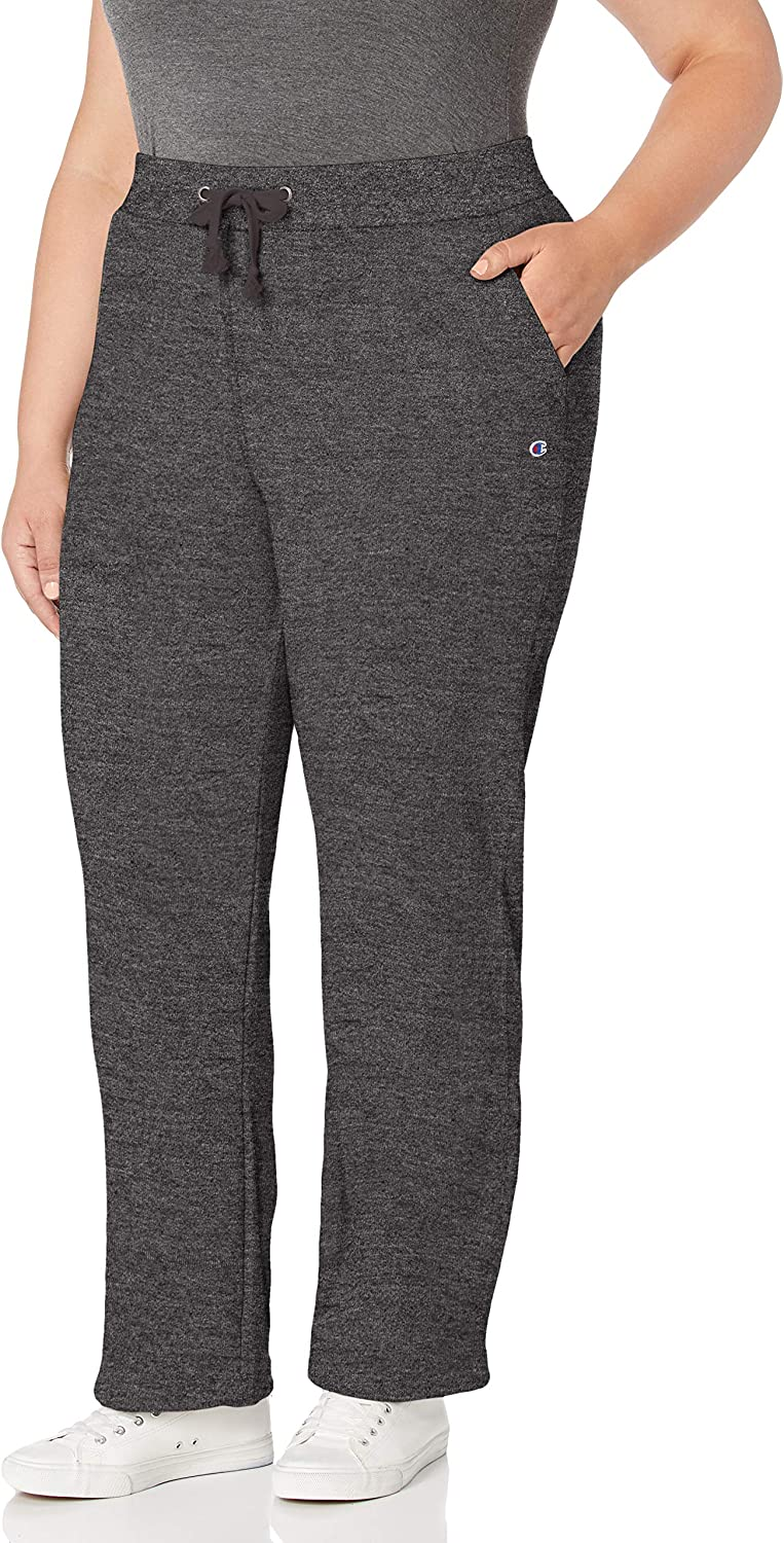 Champion Women's Plus-Size Fleece Genuine Free Shipping Open Pant Bottom ! Super beauty product restock quality top!