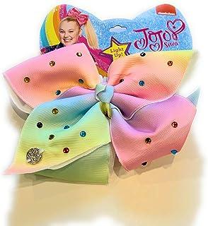 JoJo Siwa Large Light Up Cheer Hair Bow (Rainbow Sparkles)