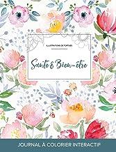 Journal de coloration adulte: Santé & Bien-être (Illustrations de tortues, La fleur) (French Edition)
