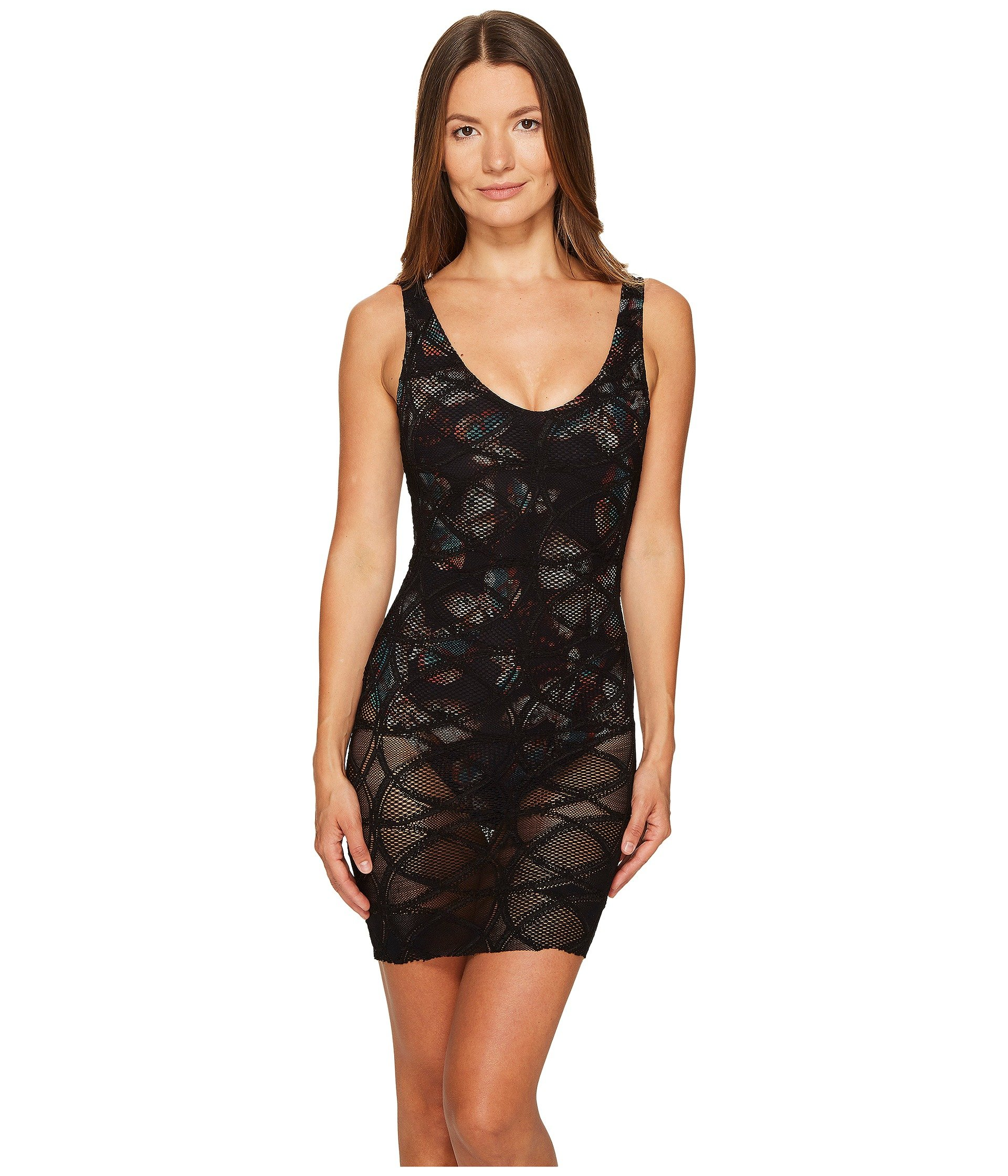 Fuzzi One-Piece Lace Overlay Butterfly Bathing Suit, Nero ...