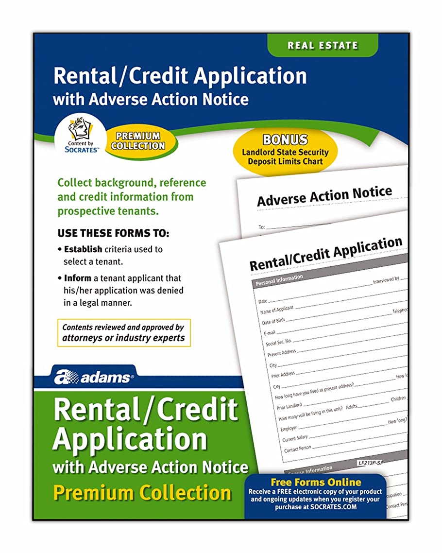 Adams Rental and Credit Application Forms Pack, 8.5 x 11 Inch, White (LF213P)