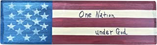 Thistlewink Americana Wooden Block Sign One Nation Under God Hand Made in The Heart of America. Perfect for Any Rustic Americana Vintage Collection Decor. Made in USA (Quote 2)
