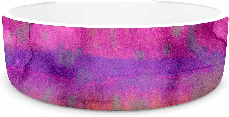 KESS InHouse Ebi Emporium California Surf 5  Pink Purple Pet Bowl, 7