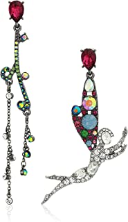 Betsey Johnson Women's Fairy Non-Matching Earrings