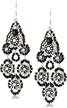 product image for Miguel Ases Jet and Sterling Silver Small Station Dangle Earrings