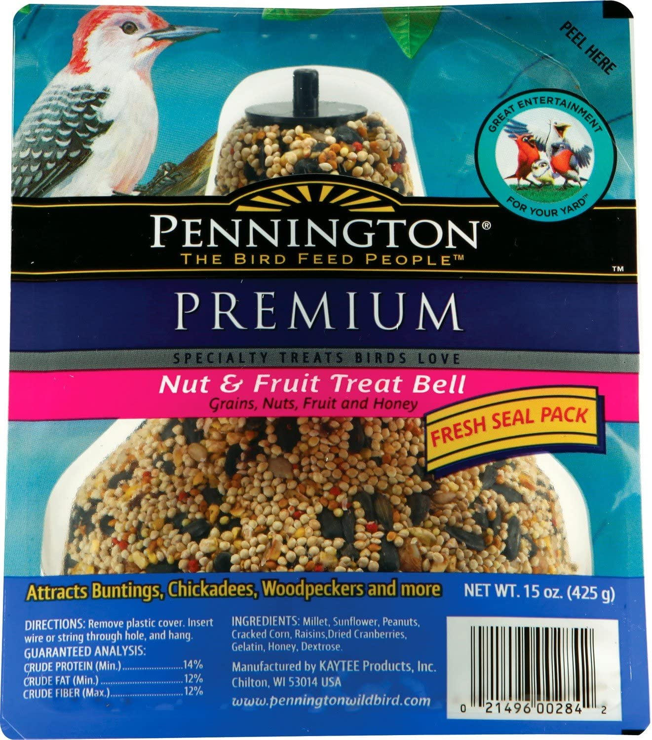 Pennington Seed Fruit Latest item and Cash special price Nut Feeder Bird Bell
