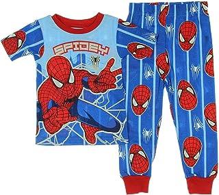 Boys Marvel Spiderman Super Hero Blue Red Long Pyjamas Pjs 2 to 10 Years w20