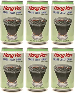 Hong Van, Grass Jelly Drink (Chinese Mesona) with Honey (Pack of 6), Imported from Taiwan, 10.70 fl oz (each)