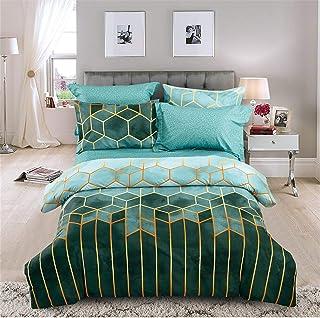 Sets de Housse de Couette 200x200 cm,Parure de lit avec housse de couette en microfibre, Parure de Lit avec Fermeture Écla...