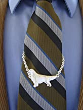 Sterling Silver Golden Retriever Large Standing Study Tie Chain