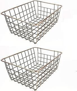 2 Pack Under Shelf Hanging Metal Wire Storage Baskets For Kitchen Pantry Sinardo Stackable Hanging Basket Cabinet Closet Linen Room Office Bathroom Kitchen Dining Storage Organization