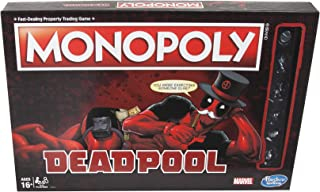 Monopoly: Marvel Deadpool Edition Comic Book Board Game Themed Tokens Hasbro