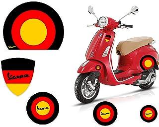 Adesivi Stickers Moto - VESPA - BANDIERA - GERMANIA TEDESCA - Casco Cerchi Scudetto Logo Kit Piaggio Fiancate Scocca