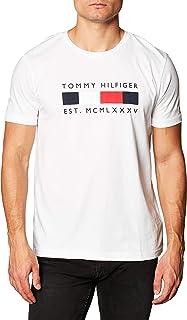 Tommy Hilfiger Logo Box Stripe tee Camiseta para Hombre