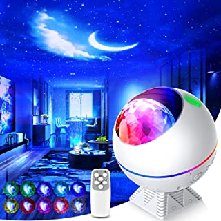Galaxy Projector 3 in 1 Ocean Wave Projector Night Light Star Projector with Remote Voice Control, Galaxy Cloud 360 Pro St...