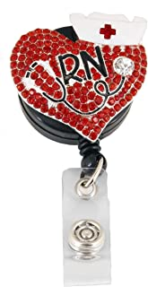 1 Pcs Red Heart Nurse Retractable Badge Holder Reel Clip, RN Nurse Gifts for Women, Nurse Badge Reels, Perfect Nurse Graduation Gift, Id Name Tag Cute Funny Nursing Badges Alligator Clips for Nurses