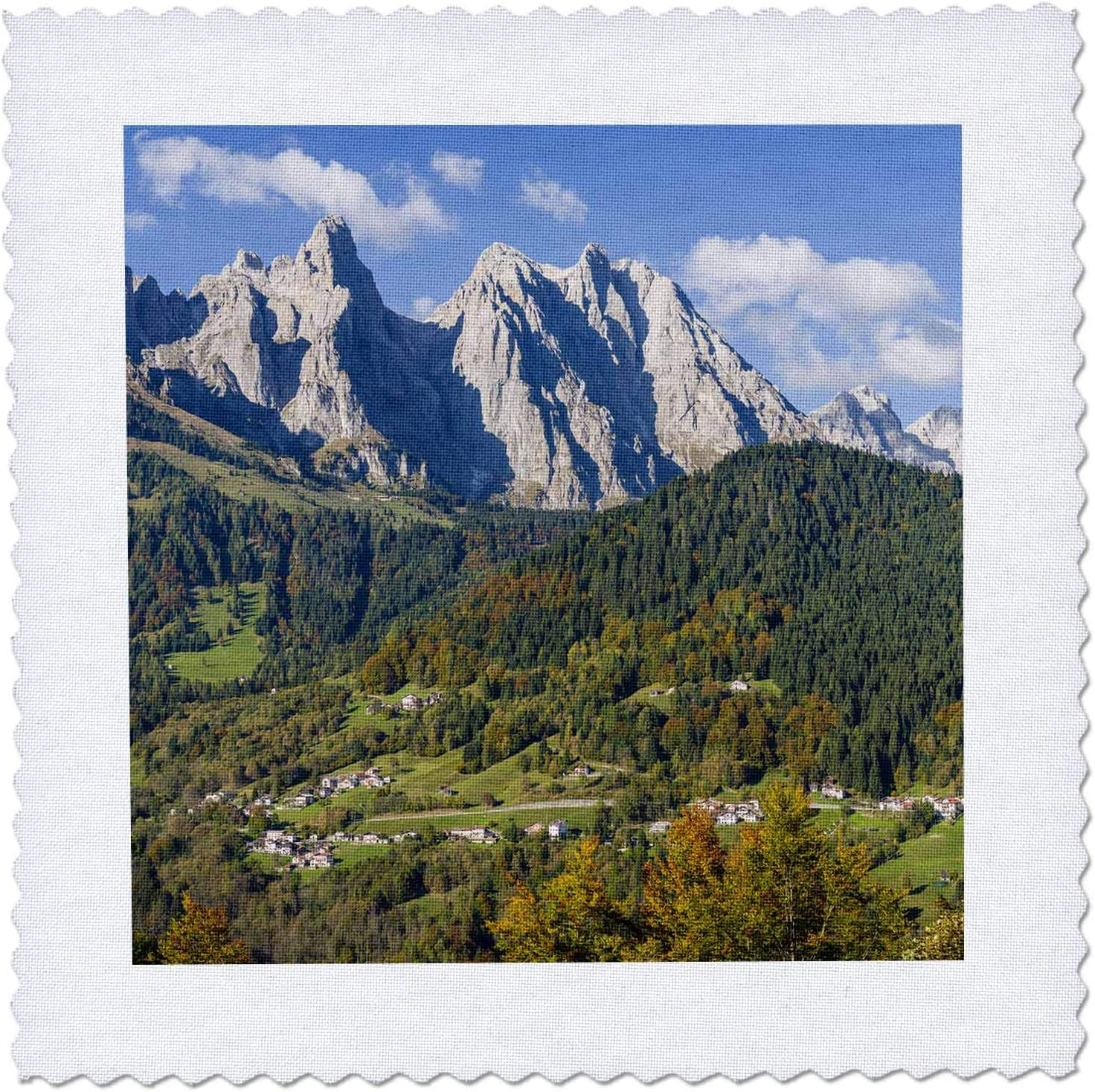 3dRose Villages Max 47% OFF Max 82% OFF Sarasin and Pongan Dolomites Quilt Italy. - Sq
