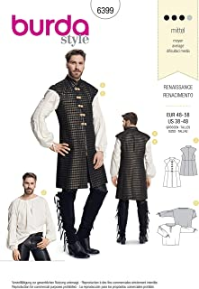 Burda Style Sewing Pattern B6399 - Men's Renaissance Shirt & Waistcoat, A(38-40-42-44-46-48)