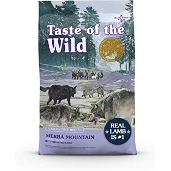 Taste of the Wild Sierra Mountain Grain-Free Canine Recipe with Roasted Lamb Dry Dog Food for All Life Stages, Made with High Protein from Real Lamb and Guaranteed Nutrients Like Probiotics