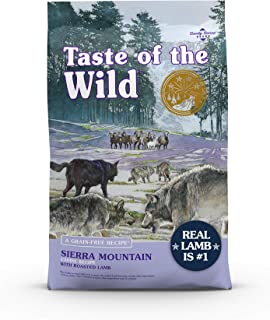 Taste of the Wild 9569 Grain Free High Protein Real Meat Recipe Sierra Mountain Premium Dry Dog Food, 28 lb