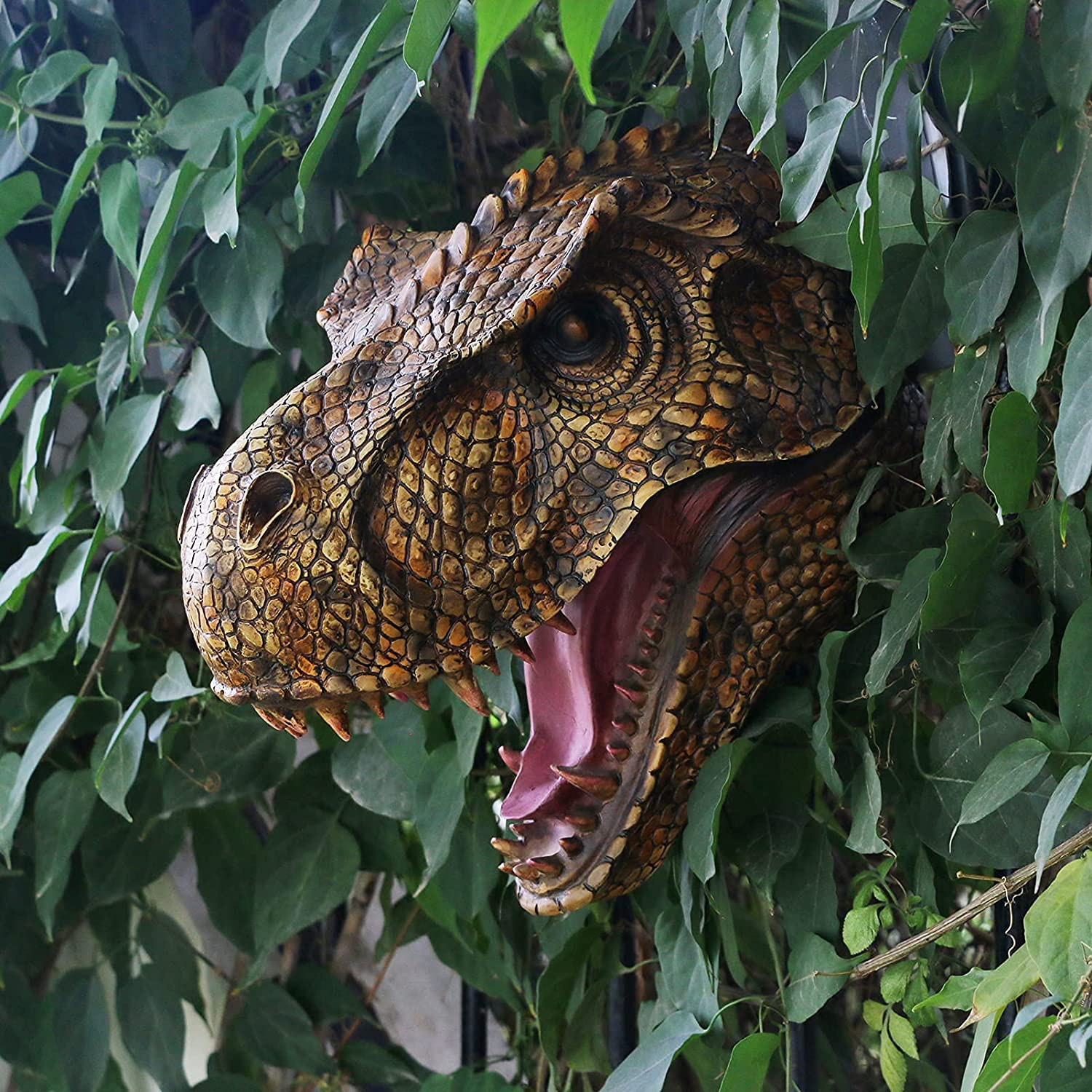 Jurassic Dinosaur Head Fees free Wall hanging T-Rex security Large - Mounted S